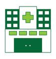 hospital building icon vector image