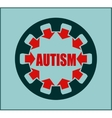 Icon flat design Autism disorder vector image