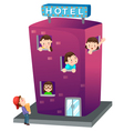 isolated Hotel vector image vector image