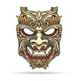 japanese demon mask vector image vector image