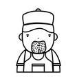 line man plumber job to service repair vector image