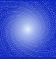 lots of dots vortex spiral dots on a blue vector image vector image