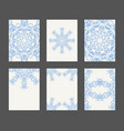 mandala card template set vector image