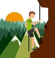 mountain climbing vector image vector image