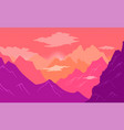 natural landscape background with mountains clear vector image