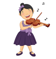 Of A Little Girl Playing Violi vector image vector image