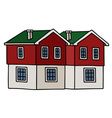 Old red houses vector image vector image