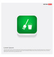 paint brush icon green web button vector image