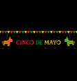 pinata and bunting cinco de mayo party web banner vector image