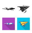 plane and transport logo vector image