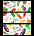 realistic vegetables with concept logo for vector image