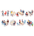 recruitment agency workers in isometric view vector image vector image