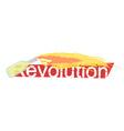 Revolution grunge scratched logo vector image vector image