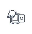 safe box money line image vector image vector image