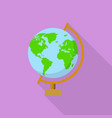 school globe icon flat style vector image vector image