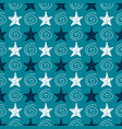 seamless star pattern hand-drawn stars and vector image vector image