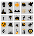 set halloween icons and colorful vector image vector image