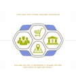 Set of busines icons vector image vector image