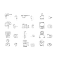 Sketch icons collection for metrology vector image vector image