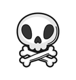 skull Icon on white background vector image vector image