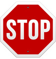 stop sign on white vector image vector image