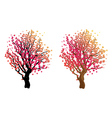 Stylized Autumn Tree7 vector image