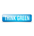 think green blue square 3d realistic isolated web vector image vector image