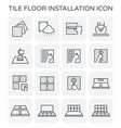 tile floor icon vector image vector image
