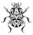 Tribal style bug tattoo vector image