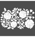 White roses and leaves on a gray background vector image vector image