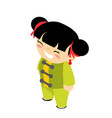wushu traditional kid wear costume chinese kungfu vector image vector image
