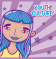 youth culture cartoon vector image