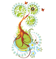 Decoration spring tree for design vector image