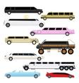 Limousine set vector image