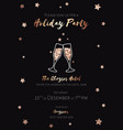 christmas party invitation black and gold foil vector image