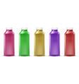 colorful bottles for juice paint liquid vector image