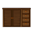 Cupboard with drawer vector image