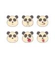 Set smileys pandas vector image