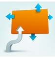 3d arrows with blank logo vector image vector image