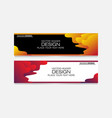 abstract design banner web template elegan vector image vector image