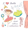 ballerina and accessories vector image vector image