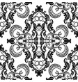 baroque seamless pattern black and white vintage vector image vector image