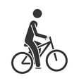 bike sport cycling icon vector image vector image