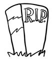 black and white tombstone vector image