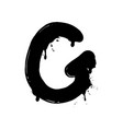 blot letter g black and white vector image vector image