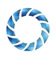Blue abstract concept circle logo design vector image vector image