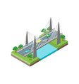 bridge road isometric view vector image vector image