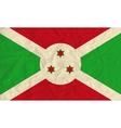 Burundi paper flag vector image vector image