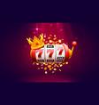 casino 777 slot label winner banner signboard vector image vector image