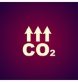 Chemistry sign CO2 carbon dioxide icon vector image